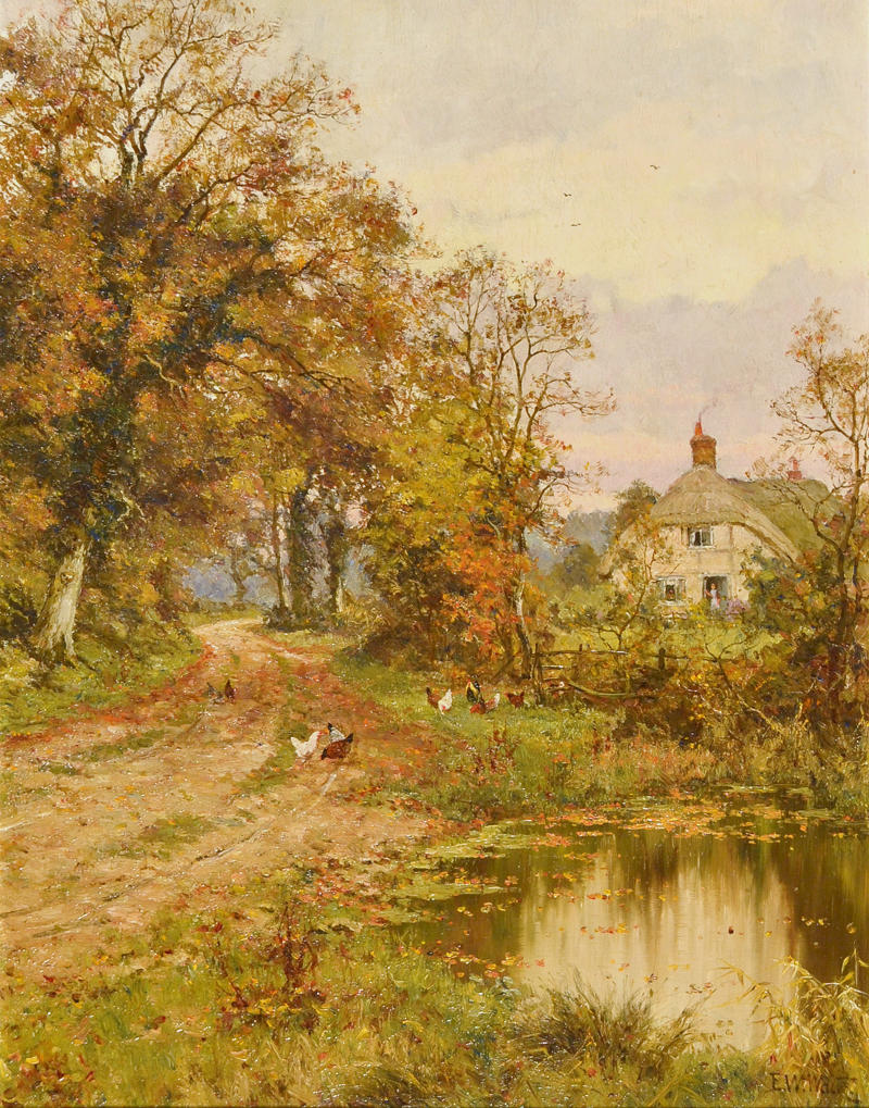 A Country Road in Autumn by Edward Wilkins Waite, 1918