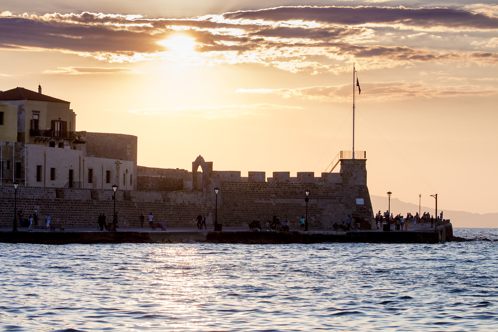 Sunset in Chania - Crete, Greece