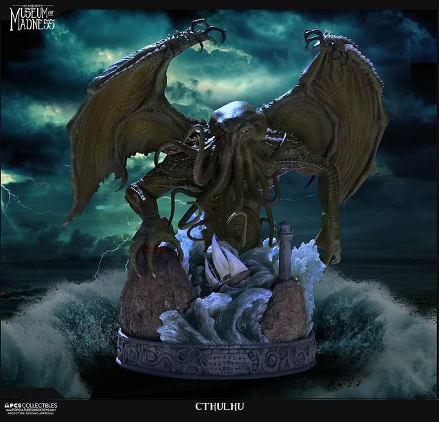 被封印在海底的舊日支配者!Pop Culture Shock H.P. 洛夫克拉夫特的瘋狂博物館【邪神克蘇魯】H.P. Lovecraft's Museum of Madness Cthulhu 全身雕像作品