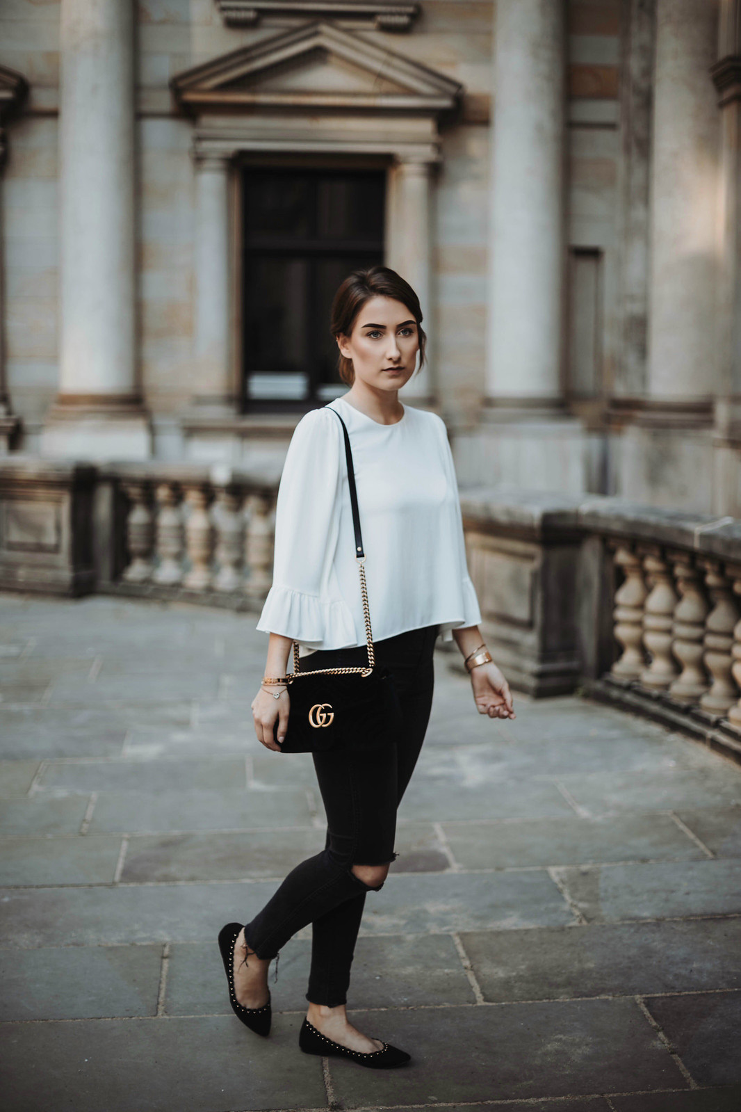 Outfit mit eleganter Bluse