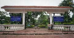 Gate of old park in Kolkata, India