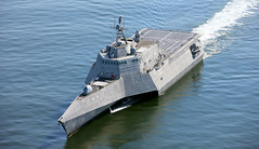 File photo of the future USS Omaha (LCS 12). (Courtesy of Austal USA)