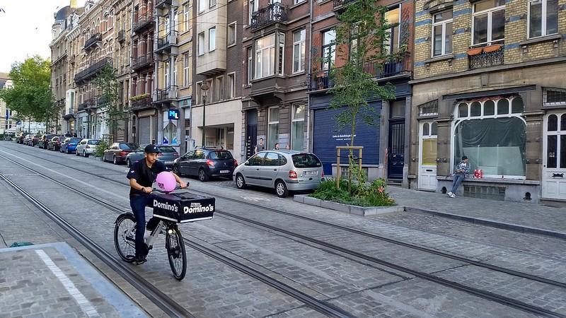 Brussels - Dominos delivery bike