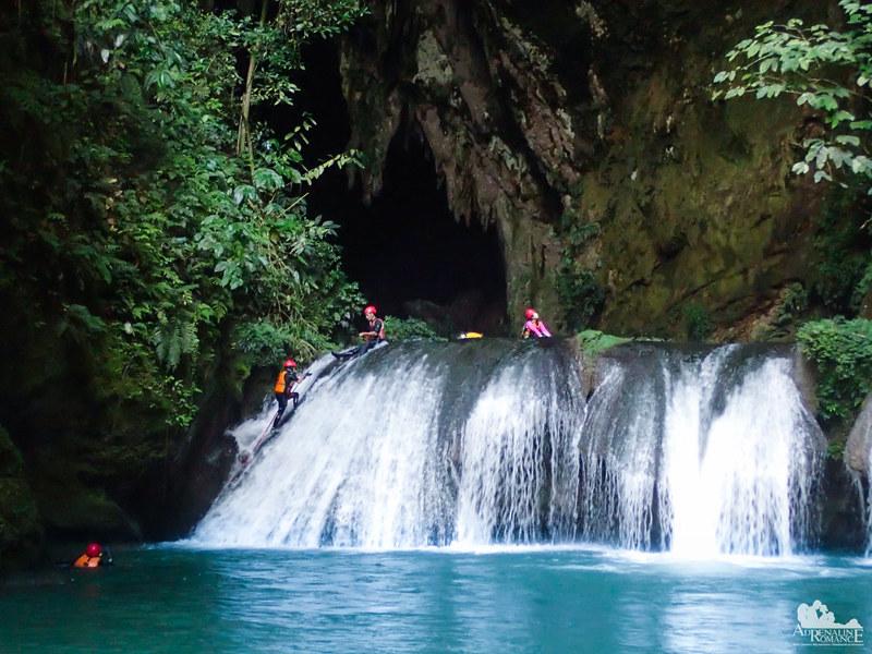 Climbing the 5th tier of Pinipisakan Falls
