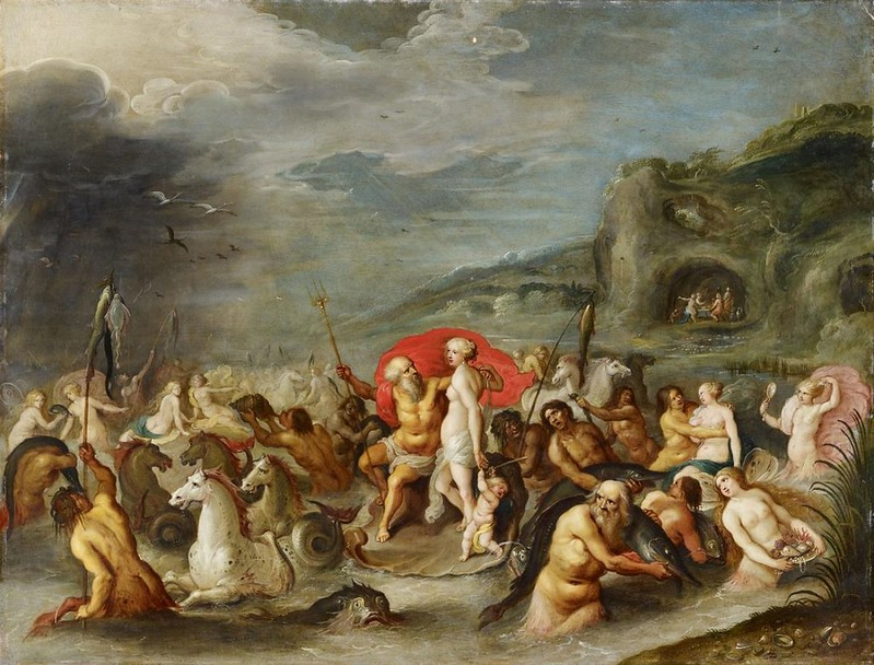Studio of Frans Francken the Younger - The  Triumph of Neptune and Amphitrite, 1635