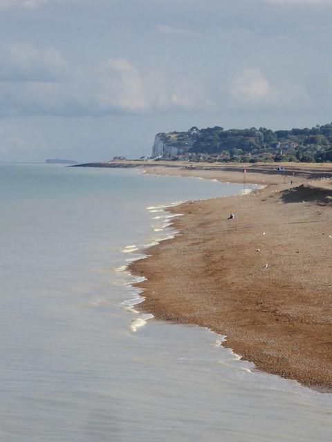 Looking back to Kingsdown from Deal pier