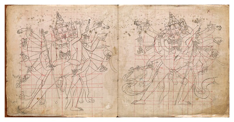 007-Tibetan pattern book of proportions- Getty Digital Collections