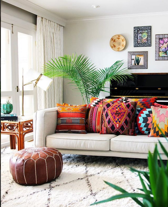 colorful cushions and pillows