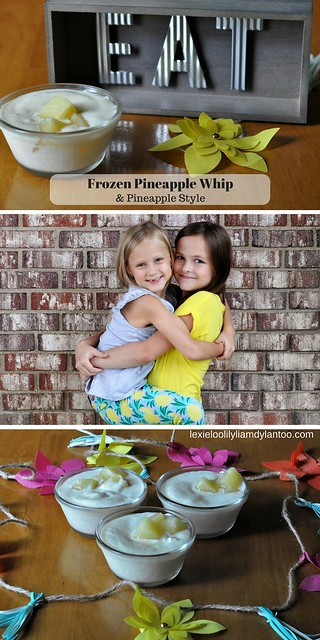 Delicious 3-Ingredient Frozen Pineapple Whip Recipe (Featuring Pineapple Kids Fashion by @French Toast - Sponsored}