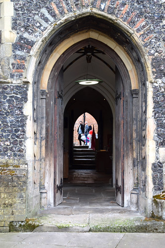 from north door to south door