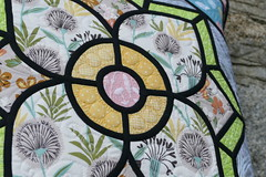 Stained glass style cushion cover
