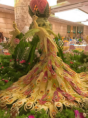 Marzipan Peacock table decoration