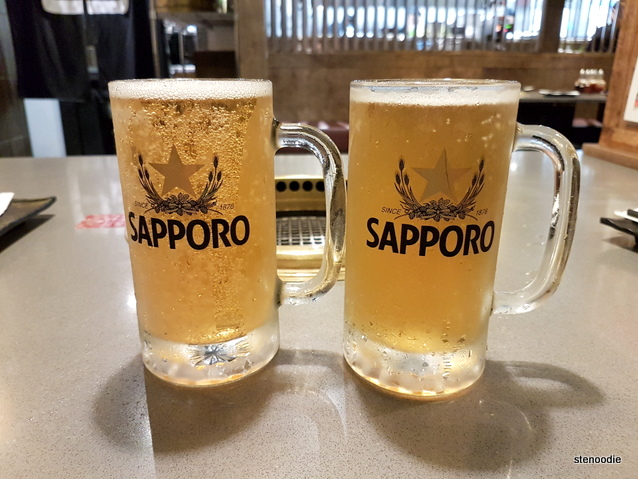 pint of Sapporo beer