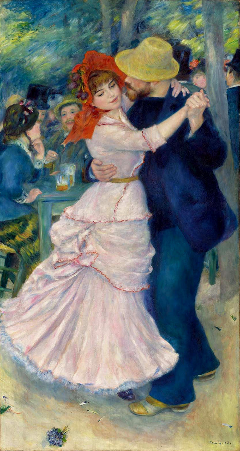 Dance at Bougival by Pierre-Auguste Renoir, 1883