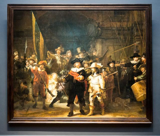 De compagnie van kapitein Frans Banninck Cocq en luitenant Willem van Ruytenburgh maakt zich gereed om uit te marcheren