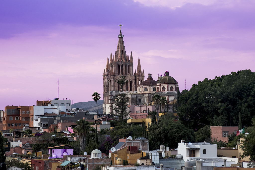 Atardecer en San Miguel de Allende
