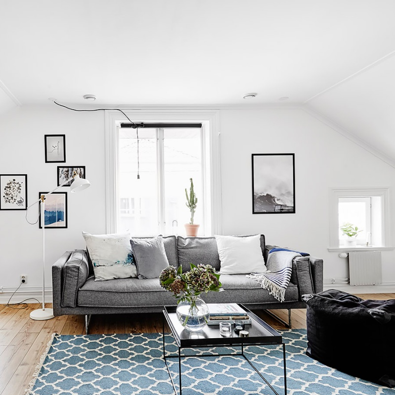 A Light Filled Studio Apartment in Sweden