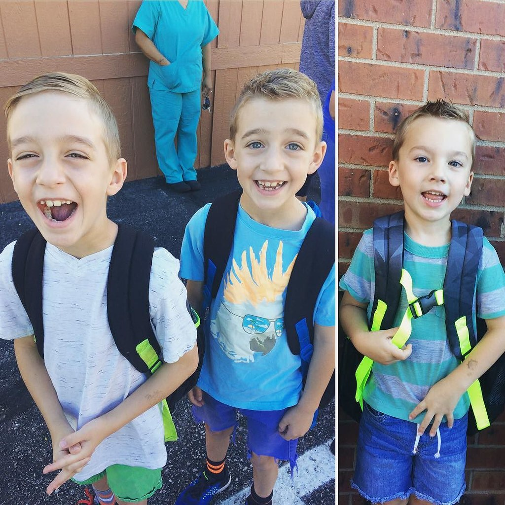 It starts! We've got two second graders and one brand new kindergartener (half-day)!