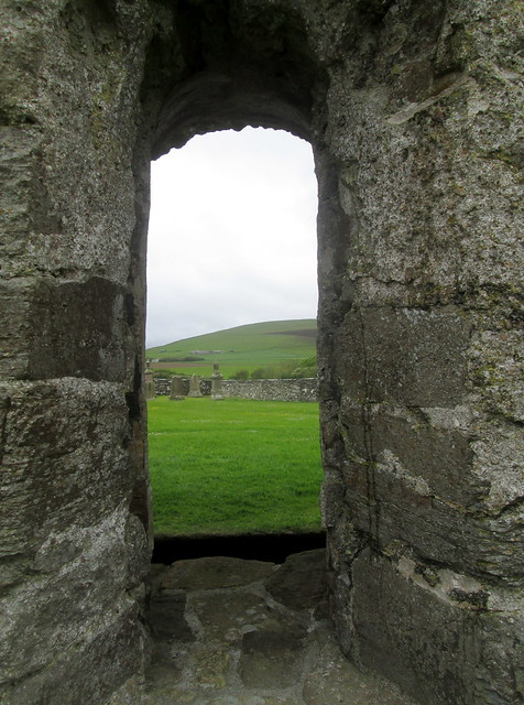 Window, Round Church, Orphir, Orkney