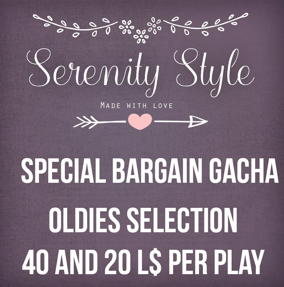 Serenity Style Special Bargain Gacha Sale - SecondLifeHub.com