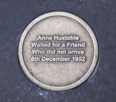 Photo of Anne Huxtable bronze plaque