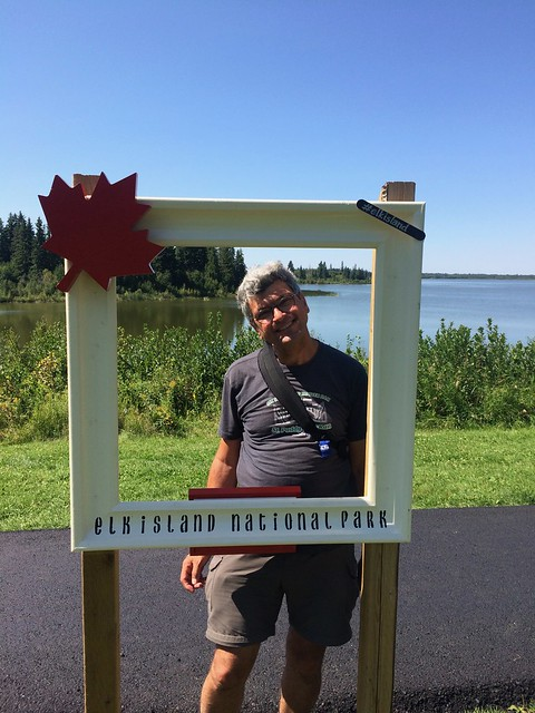 Elk Island Pierre in National Park frame