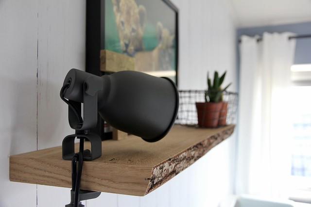 Plank lamp kinderkamer