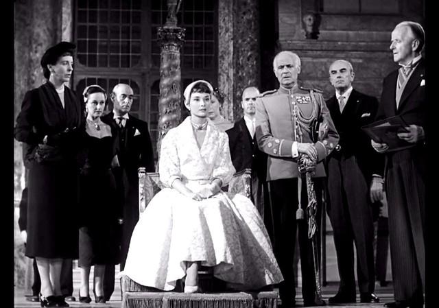 Audrey Hepburn (Sitting Center), Roman Holiday, 1953