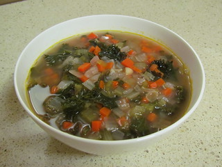 Purple Kale and White Bean Soup