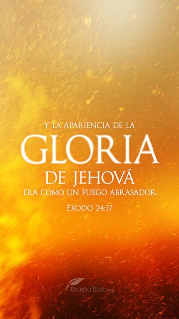 La gloria de Jehova era como un fuego abrasador
