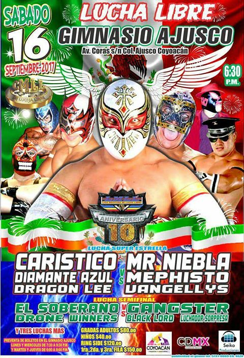 Cmll 2017 09 for Gimnasio 5 dragones