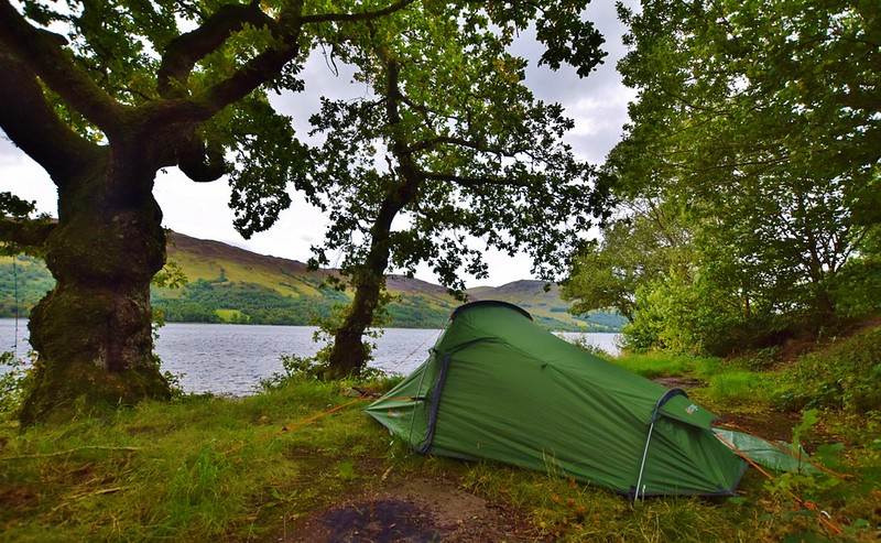 Lake Earn - wild camping in Loch Lomond and the Trossachs