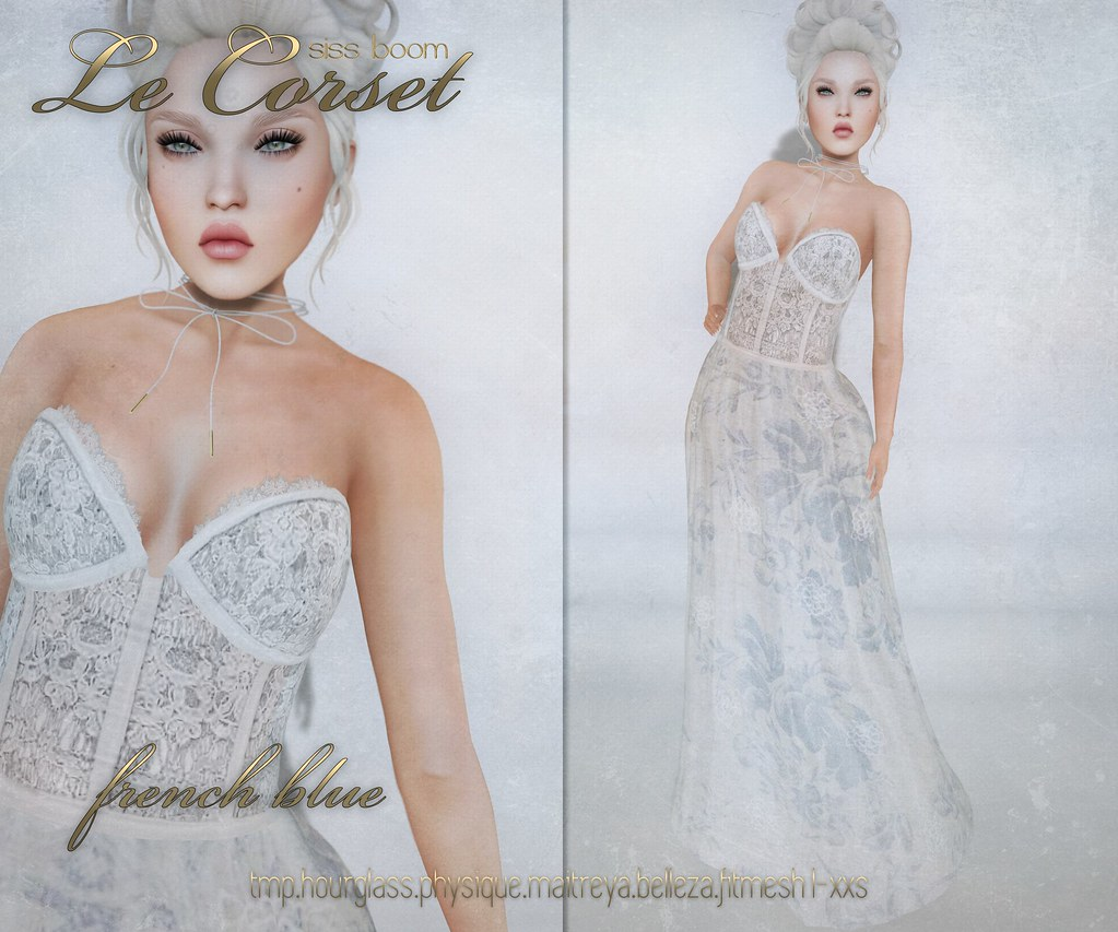 -sb-le corset french blue - SecondLifeHub.com