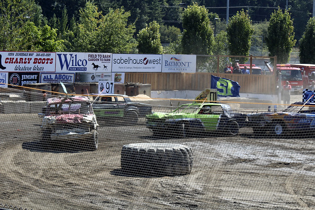 2017 Destruction Derby at the Kitsap County Fair