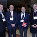 Ricardo Reyes, de Codelco; Pascual Veiga, de Aprimin; Karl Jockel, de Antofagasta Minerals, y Alex Schnake, de Tripontis Consultores