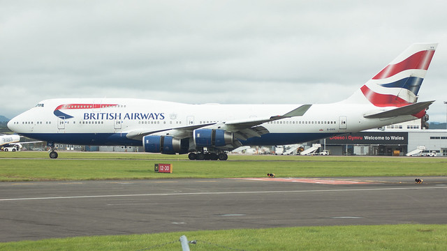 G-CIVV - British Airways 747 @ Cardiff Airport 040917