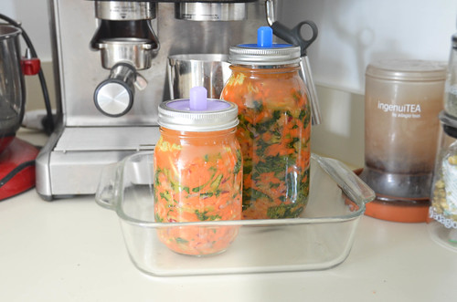 Kale Kimchi - fermenting