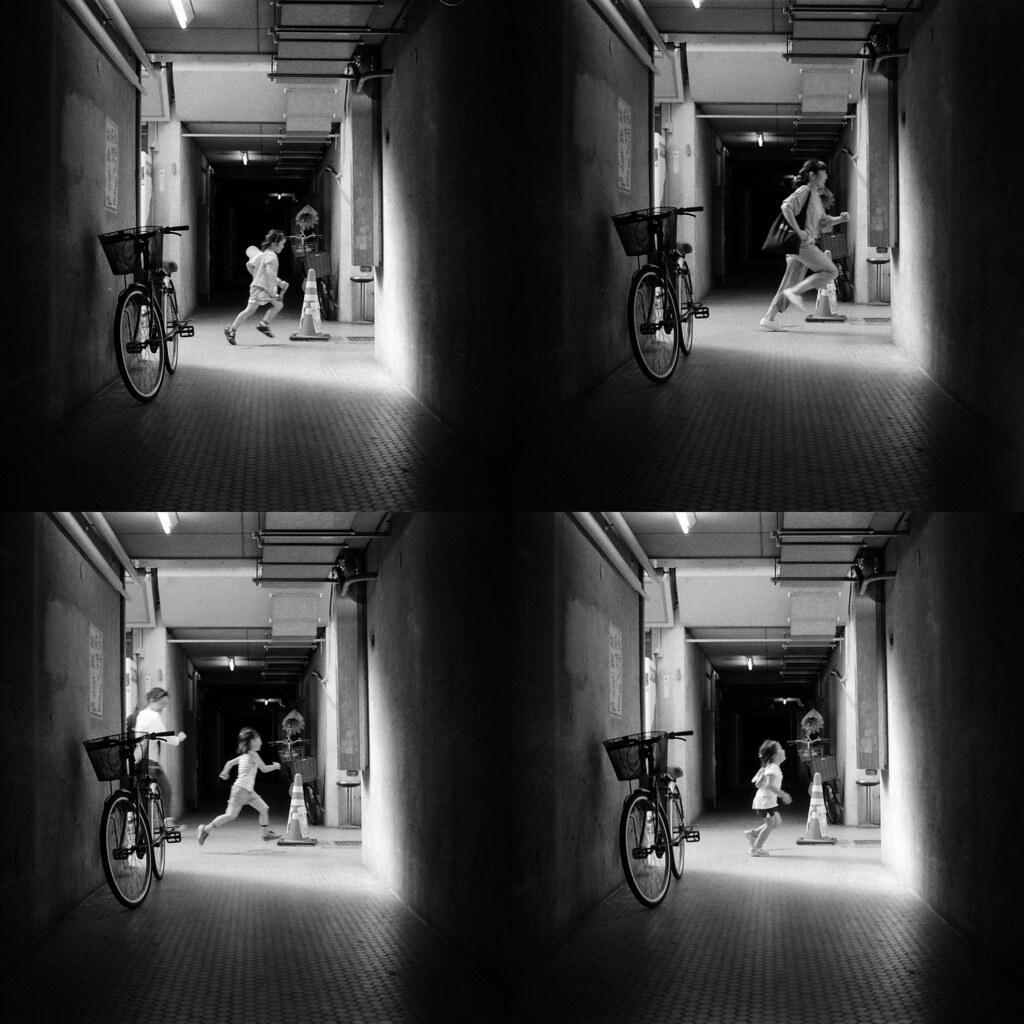 基町 廣島 Hiroshima, Japan / Ultrafine Extreme / Nikon FM2 快跑,快點逃離!但我想停留在原地,等著落後的回憶跟上。  但該往哪個方向呢?或是起身看看後方,到底是什麼在追趕著我。  是夢的出口還是原地等待?失去的那一格畫面,是誰?  Nikon FM2 Nikon AI AF Nikkor 35mm F/2D Ultrafine Extreme 400 6679-0026, 6679-0028, 6679-0029, 6679-0030 2016-09-28 Photo by Toomore