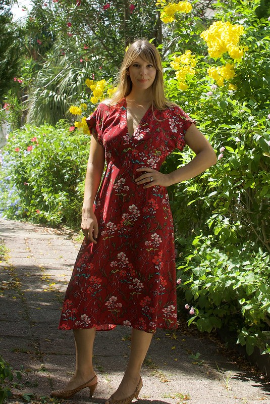 Mood Fabric Floral Rayon Lois Dress