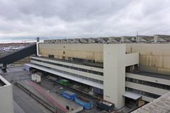 View of the sorting facility from roof of office building