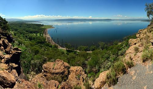 kenya lake nakuru lago panorama rift valley africa