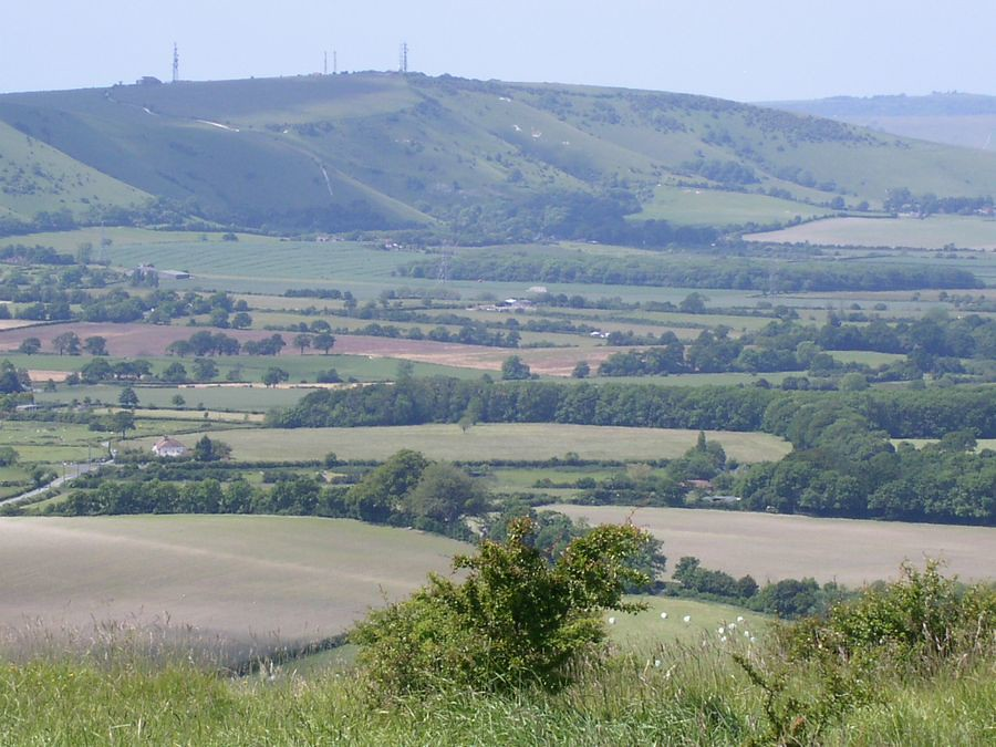 Truleigh Hill from Wolstonbury Hill