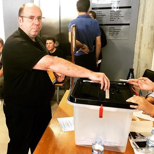 Per #democràcia #dignitat i un #noupaís #JoVoto #CatalanReferendum #CATVotaSí #HolaRepública #Gelida #Penedès