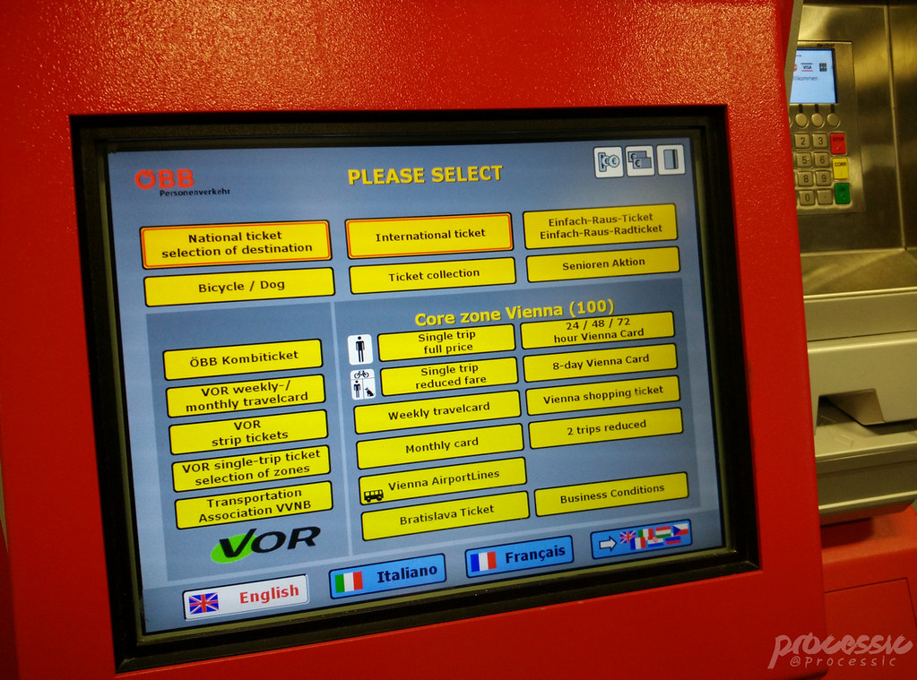 OEBB ticket machine
