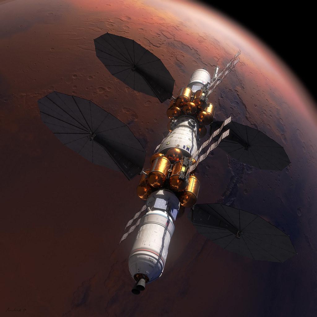 Mars Base Camp orbit insertion