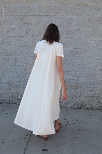 Summer Look : TEE-SHIRT DRESS, CHALK - #Summer