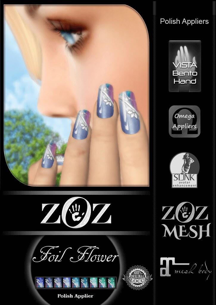 {ZOZ}  Foil Flower pix L - SecondLifeHub.com