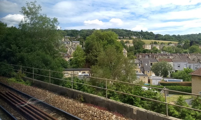 Scenery from the train near Bath