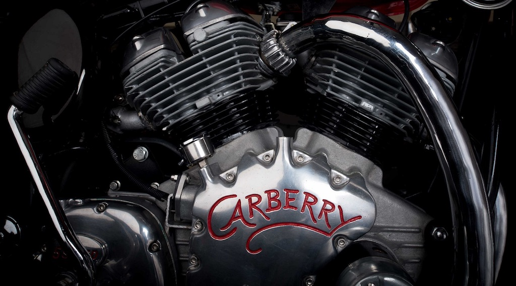 Carberry-Royal-Enfield-V-twin-engine-right-side