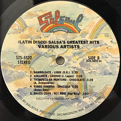 V.A.:LATIN DISCO - SALSA'S GREATEST HITS(LABEL SIDE-B)
